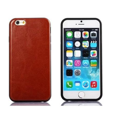 Leren softcase iPhone 6(s) Plus - Bruin