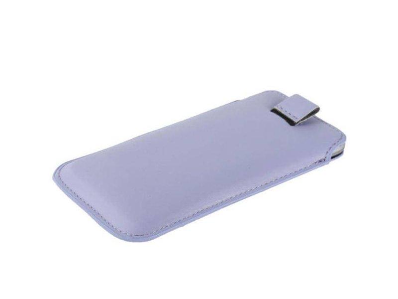 Leren insteekhoes iPhone 6(s) Plus - Wit