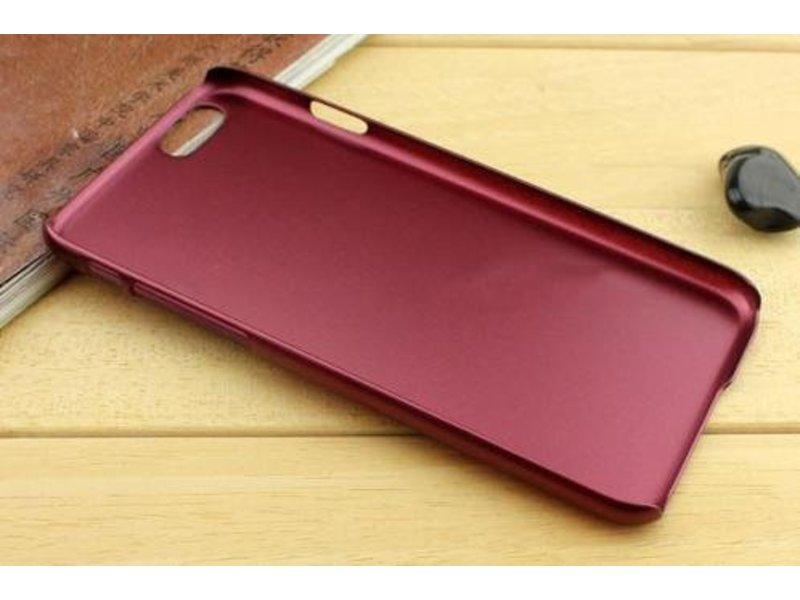 Metallic Hard Case iPhone 6(s) Plus - Bordeaux Rood