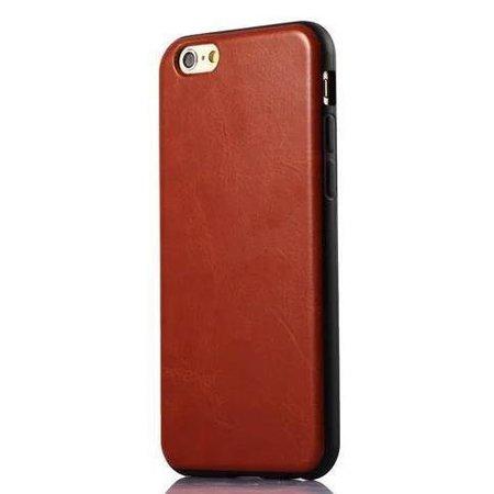 Leren softcase iPhone 6(s) - Bruin