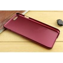 Metallic Hard Case iPhone 6(s) - Bordeaux Rood