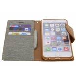 Mercury Mercury stoffen Book Case iPhone 6(s) - Grijs
