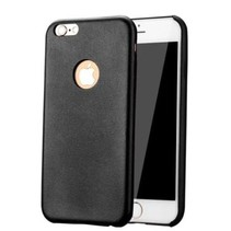 Leren design Hard Case iPhone 6(s) - Zwart