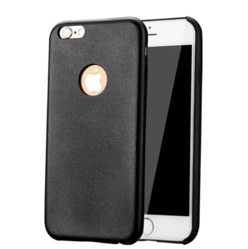 Leren design Hard Case iPhone 6(s) - Zwart