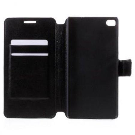 Wallet Book Case Zwart voor Huawei P8