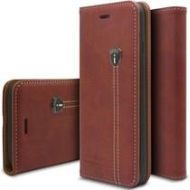 iHosen Bordeaux Rood Leren Hoesje Samsung Galaxy S6