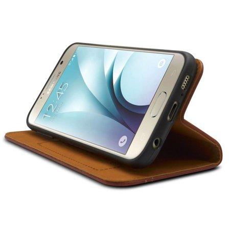 iHosen iHosen Bordeaux Rood Leren Hoesje Samsung Galaxy S6 Edge