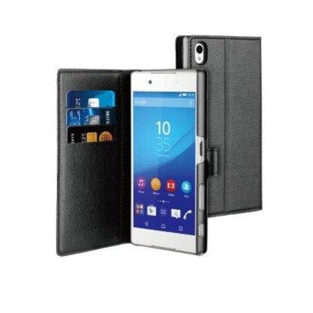 Muvit Muvit Wallet Case Zwart voor Sony Xperia Z5