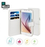 BeHello BeHello Wallet Case Wit voor Samsung Galaxy S6 Edge