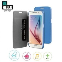 BeHello Book Case Blauw voor Samsung Galaxy S6