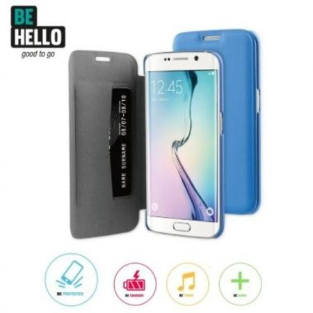BeHello BeHello Book Case Blauw voor Samsung Galaxy S6 Edge