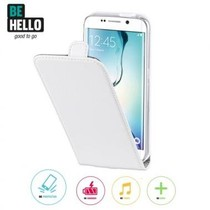 BeHello Wallet Flip Case Wit voor Samsung Galaxy S6 Edge
