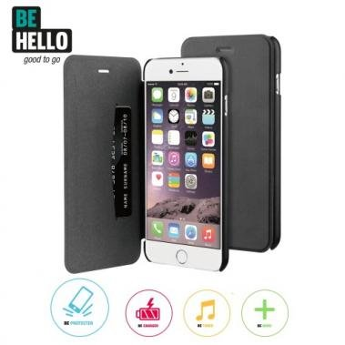BeHello BeHello Book Case Zwart voor Apple iPhone 6/6S