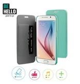 BeHello BeHello Book Case Groen voor Samsung Galaxy S6