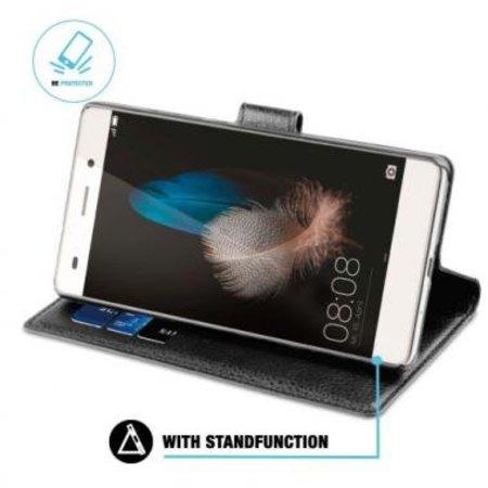 BeHello BeHello Wallet Case Zwart voor Huawei P8 Lite