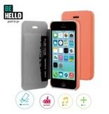 BeHello BeHello Book Case Coral voor Apple iPhone 5C