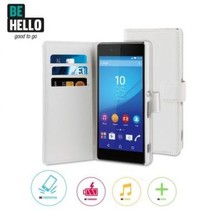 BeHello Wallet Case Wit Voor Sony Xperia Z3 Plus