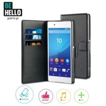 BeHello Wallet Case Zwart Voor Sony Xperia Z3 Plus