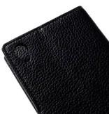Mobiware Wallet Book Case Litchi Zwart voor Sony Xperia Z5 Premium