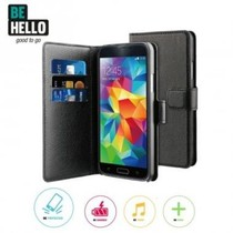 BeHello Wallet Case Zwart voor Samsung Galaxy S5