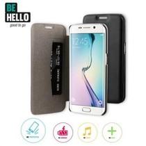 BeHello Book Case Zwart voor Samsung Galaxy S6 Edge