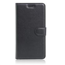 Wallet Book Case Litchi Zwart voor Apple iPhone 7/8 Plus