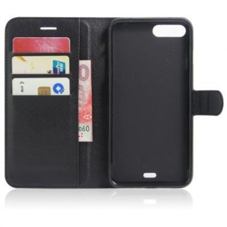 Mobiware Wallet Book Case Litchi Zwart voor Apple iPhone 7/8 Plus