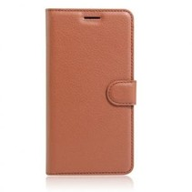 Wallet Book Case Litchi Bruin voor Apple iPhone 7/8 Plus