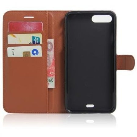 Mobiware Wallet Book Case Litchi Bruin voor Apple iPhone 7/8 Plus