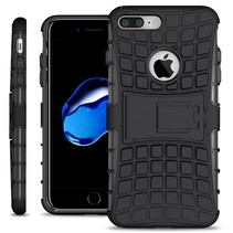 Just in Case Rugged Hybrid Apple iPhone 7/8 Plus Case (Black)