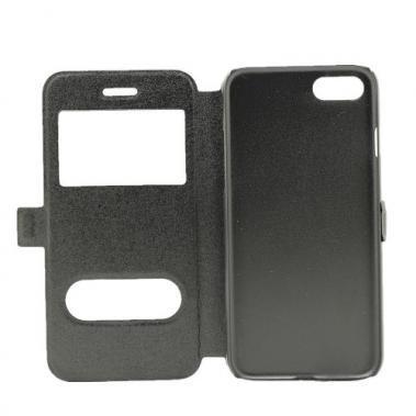 Mobiware Book Case Dual Window Zwart voor Apple iPhone 7/8