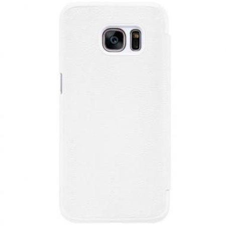 Nillkin Nillkin QIN Wallet Book Case Wit voor Samsung Galaxy S7