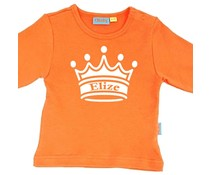 Oranje shirt met naam