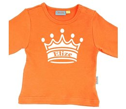 oranje shirt met eigen naam