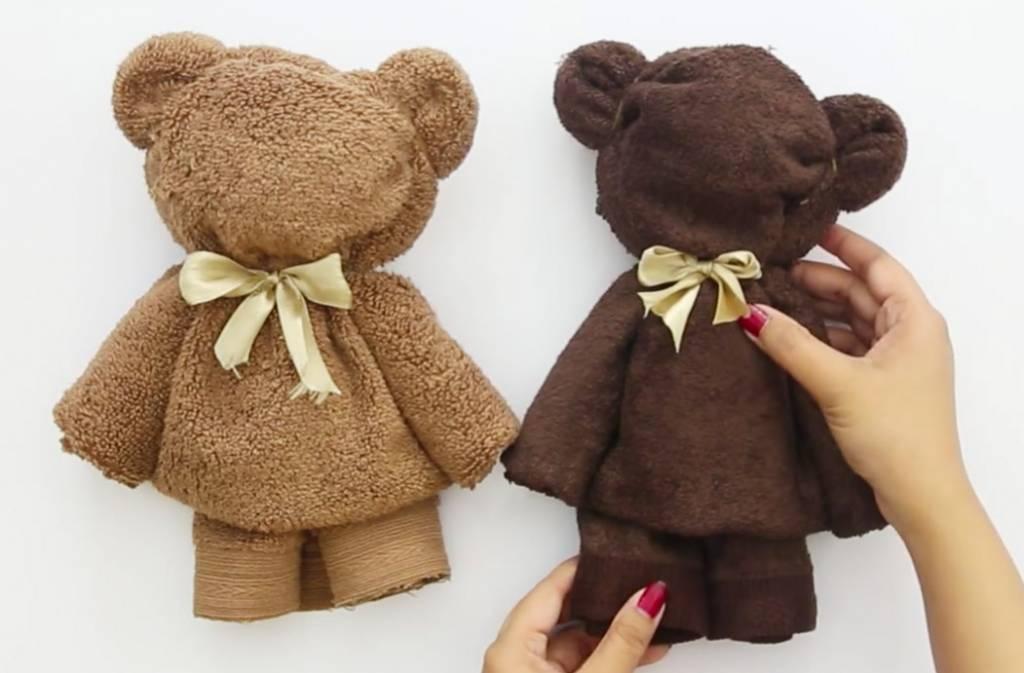 DIY: Zo maak je een teddybeer van een handdoek