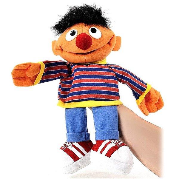 Sesamstraat handpop knuffel Ernie