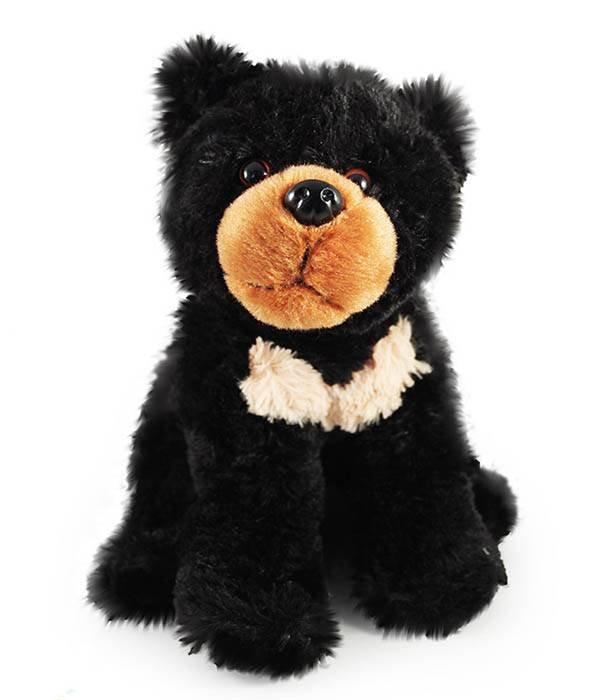 Kraagbeer knuffel (Aziatische zwarte beer)