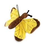 Vlinder knuffel (28 cm) blauw, oranje of geel