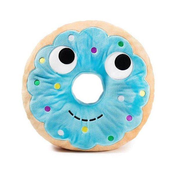 Yummy World Donut knuffel Yummy (blauw, 40 cm)