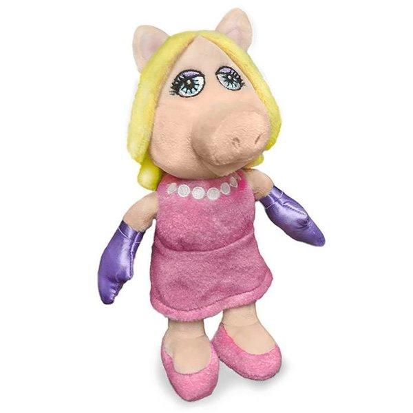 Muppets Miss Piggy knuffel (roze jurk)