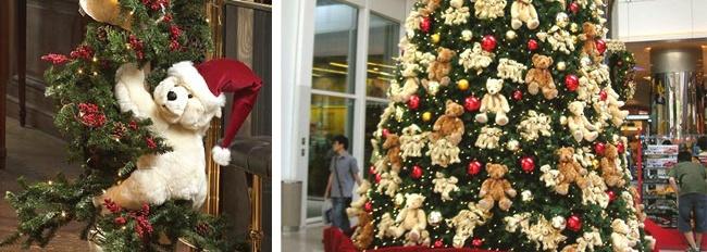 Een kerstboom vol knuffels