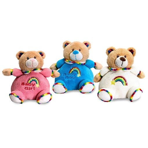 Teddybeer baby knuffel Puffball (Rainbow Collection)