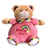 Teddybeer baby knuffel Puffball (Rainbow Collection)