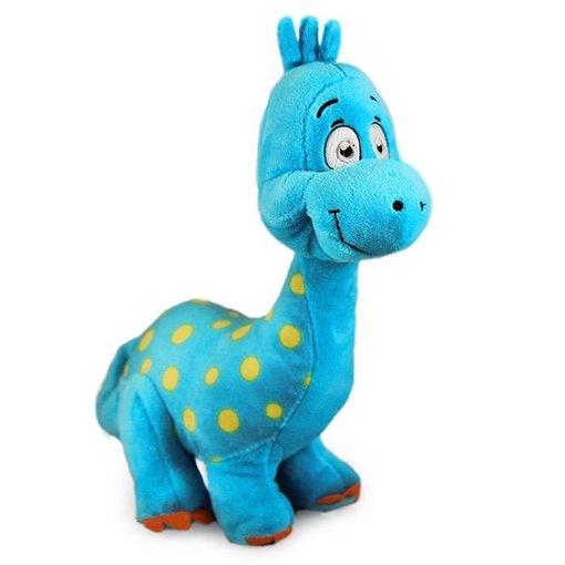 Grappige Dino knuffel blauw