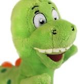 Grappige Dino knuffel groen