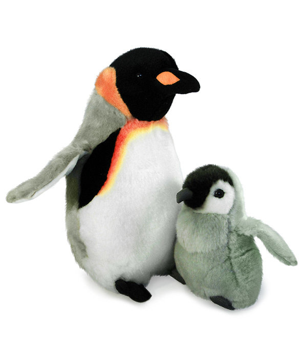 Pinguïn met baby knuffel