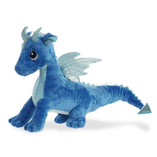 Draak knuffel 'Sparkle Tales' blauw