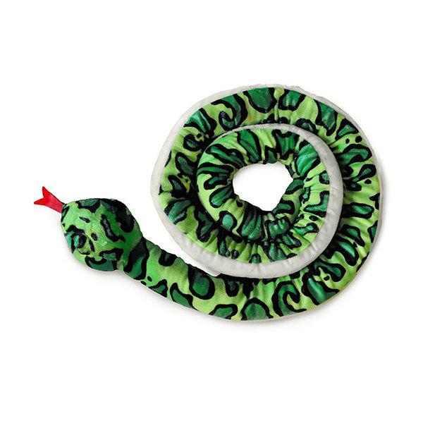 Slang knuffel (2.5 meter) Groen, Geel of Blauw