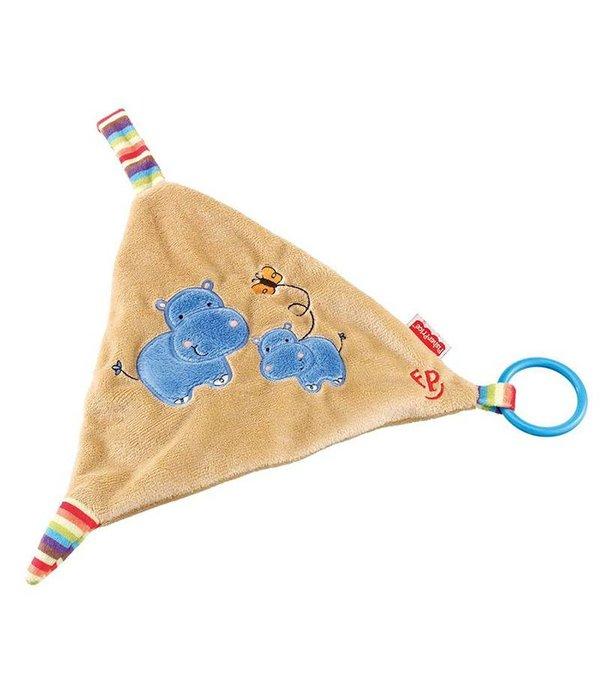 Fisher-Price Fisher Price Nijlpaard knuffeldoekje met ring
