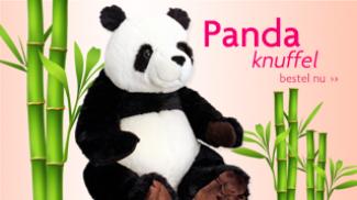 Fluzzy tip: lieve Panda knuffel!